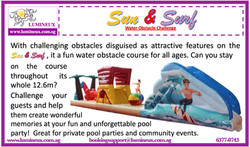 Sand & Surf pool obstacle course