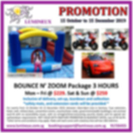 Children party bouncer ride rental package promtion