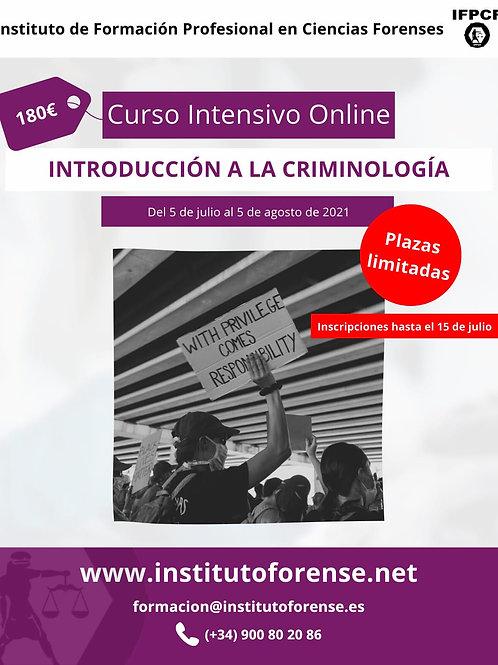 Curso Online Intensivo en Criminología