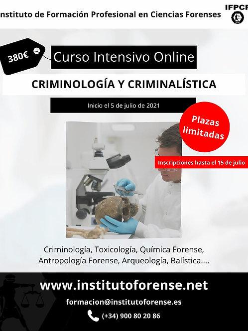 Curso Online Intensivo en Criminología y Criminalística