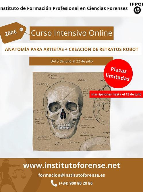 Curso Online Intensivo en Anatomía y Expresión Facial y Retratos Robot