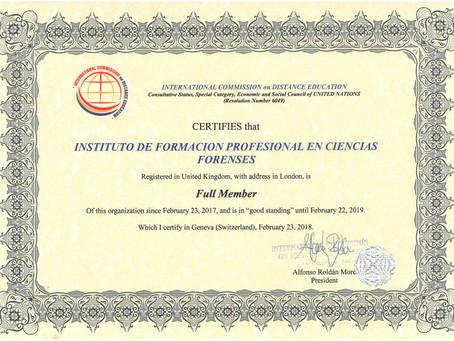 Renovamos la afiliación a la International Commission on Distance Education