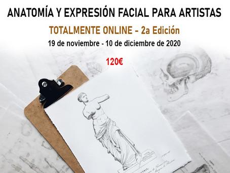 Curso Intensivo de Anatomía y Expresión Facial para Artistas