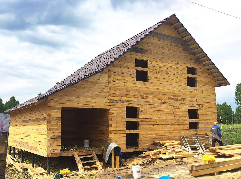 Дом с гаражом и баней