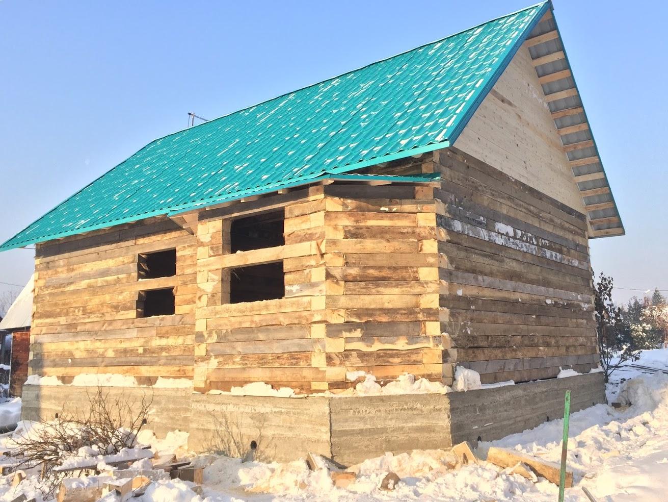 Дом из бруса сосны