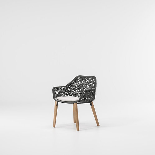 Kettal|Maia (Dining Armchair Teak Legs) by Patricia Urquiola