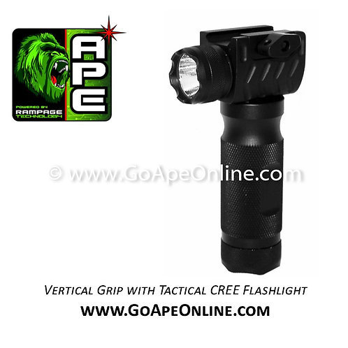 Rampage Vertical Grip with Tactical CREE Flashlight
