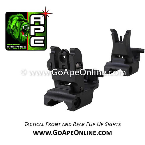 Rampage Front & Rear Flip-up Back-up Tactical Sites Sights