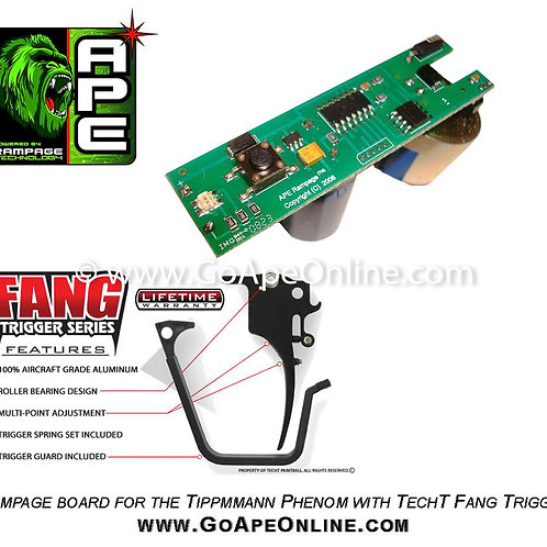 Rampage Board for the Tippmann Phenom w/ Tech T Fang Trigger