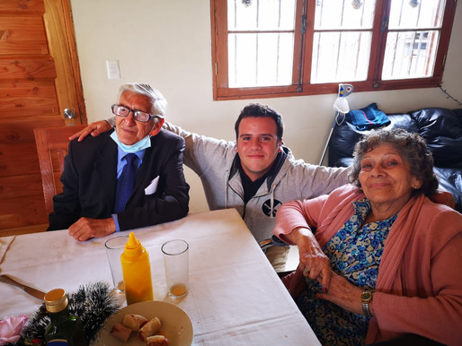 Mis abuelos durante la misión