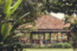 Desa Seni retreat center outdoor yoga shala