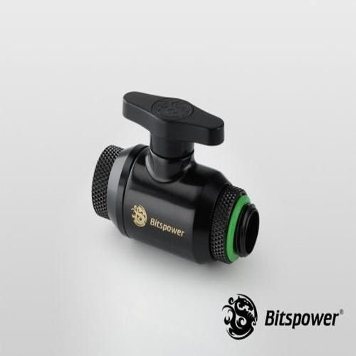 Bitspower Matt Black Dual Rotary Mini Valve With G1/4″ Extender (BP-MVVRGIG14-MB