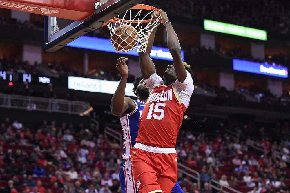 Clint Capela Houston Rockets Joel Embiid Philadelphia 76ers nba around the game