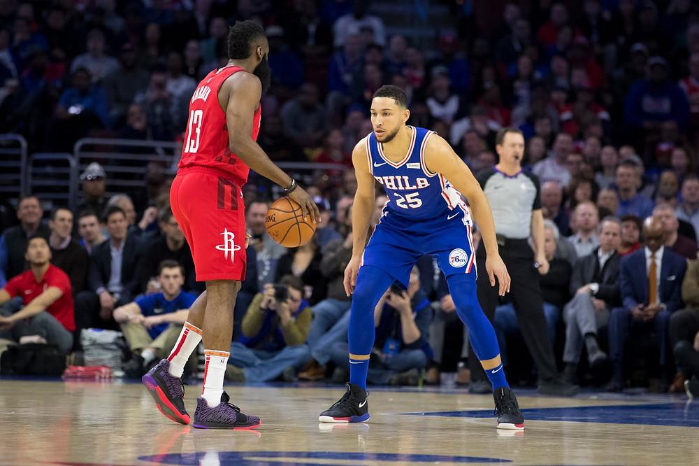 James Harden Houston Rockets Ben Simmons Philadelphia 76ers nba around the game