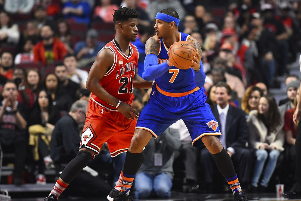 Carmelo Anthony Jimmy Butler new York Knicks Chicago Bulls nba Around the game