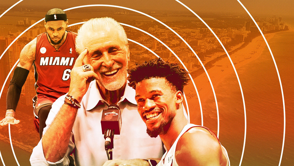 LeBron James Pat Riley Jimmy butler Miami Heat nba Around the game