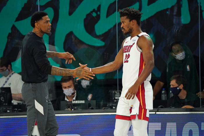 Udonis Haslem Jimmy Butler Miami Heat nba Around the game