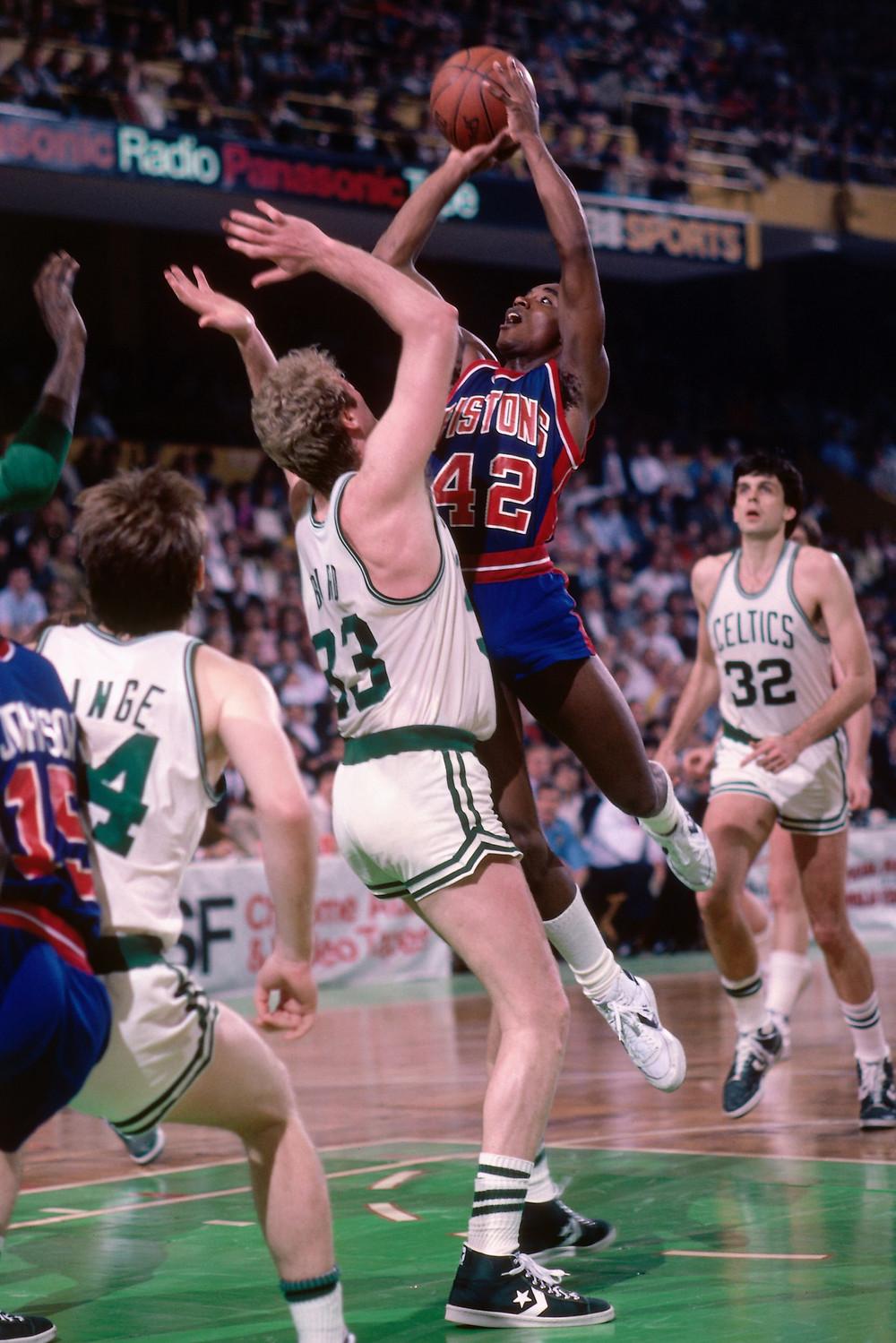 Isiah Thomas Larry Bird Detroit Pistons Boston Celtics nba Around the game