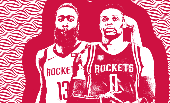james harden russell westbrook houston rockets nba around the game
