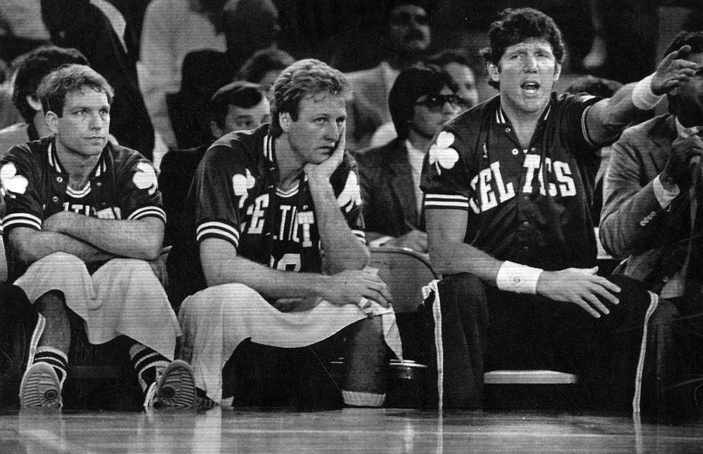 Jerry Sichting Larry Bird Bill Walton Boston Celtics nba Around the game