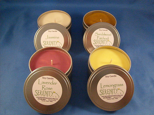 Candle Tins - 100% Soy Wax, 3 oz