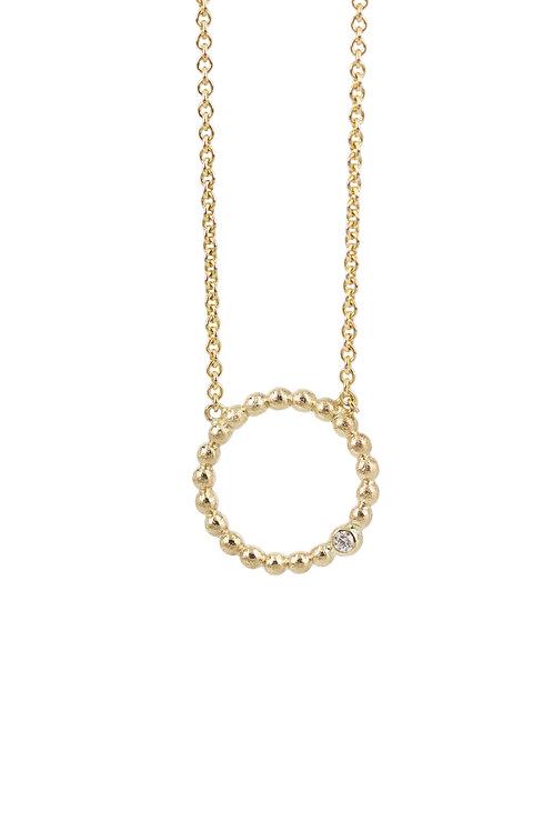Life - 14 kt. guld halskæde med brillant