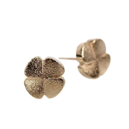 14 kt. guld - Firkløver ørestik