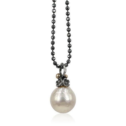 Perle vedhæng med hvid ferskvandsperler