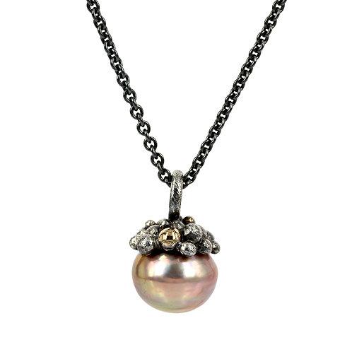 Bobbles - Sølv perlevedhæng barok