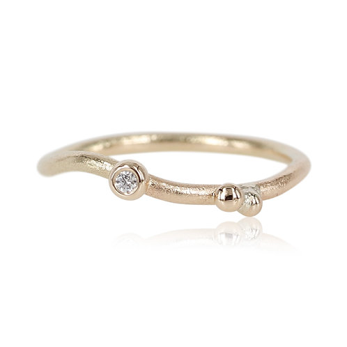 One of a kind - Petit ring med brillant