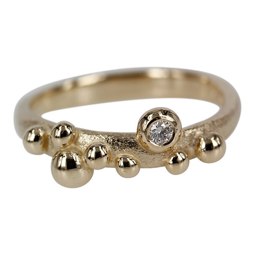Champagne - 14 kt. Guld ring