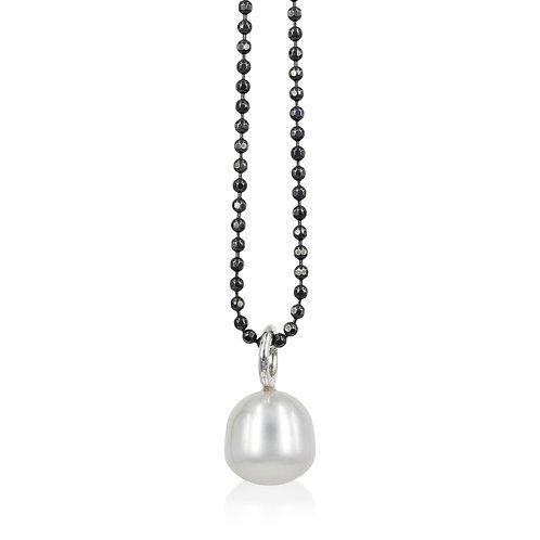Perle vedhæng med grå ferskvandsperler