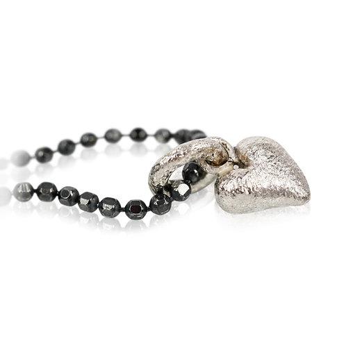 Sølv hjerte vedhæng - HAPPY HEART