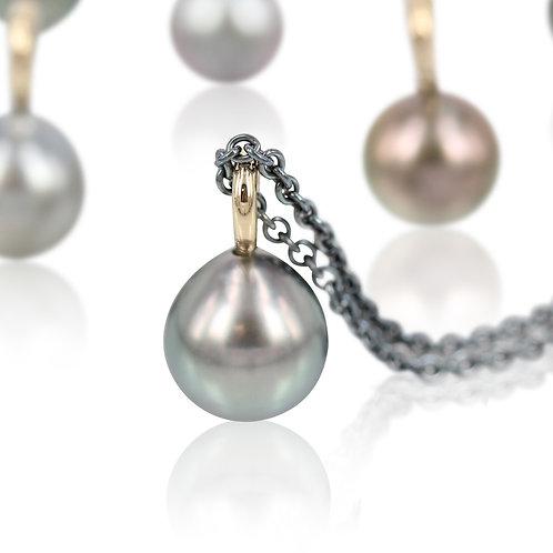14 kt. Perle vedhæng - Tahiti perle