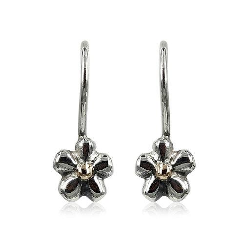 ForGet MeNot - Sølv blomster øreringe