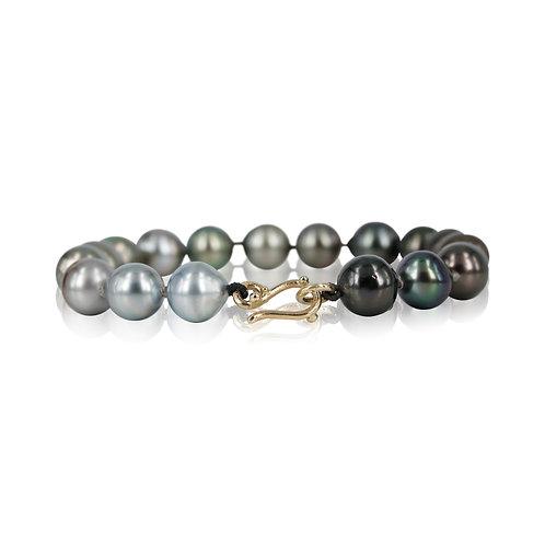 Perle armbånd med tahitiperler - 14 kt. guld lås