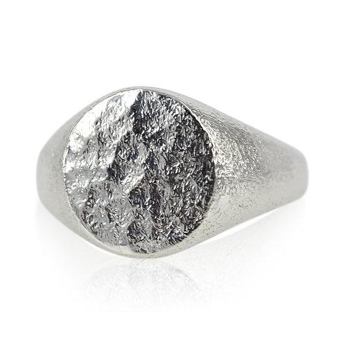Signet ring sølv hammerslået