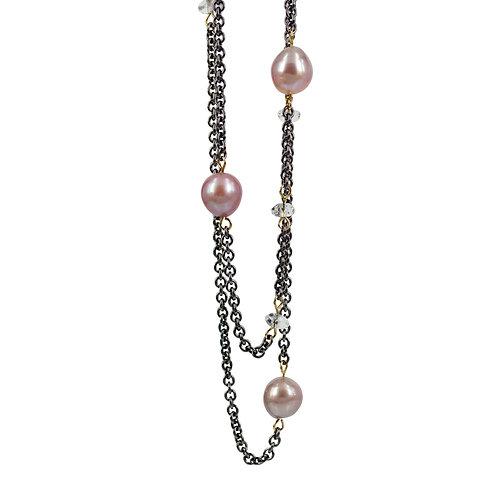 Happy thoughts - Sølv halskæde med perler