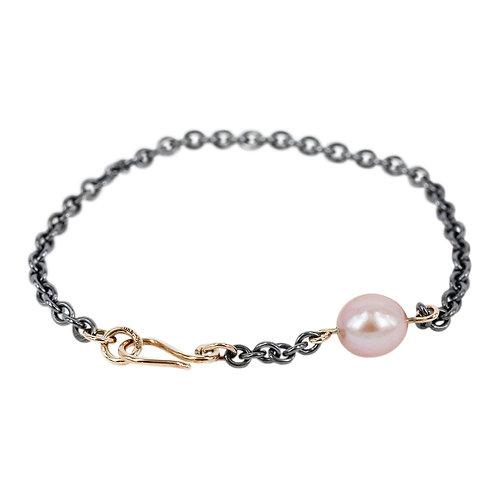 Happy thoughts - Sølvarmbånd med perle