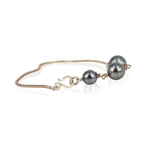 14 kt. Unika armbånd med tahiti perler