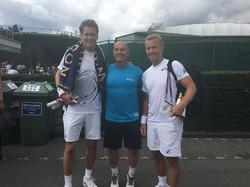 Thomas Enqvist & Thomas Johansson (me on tiptoes)