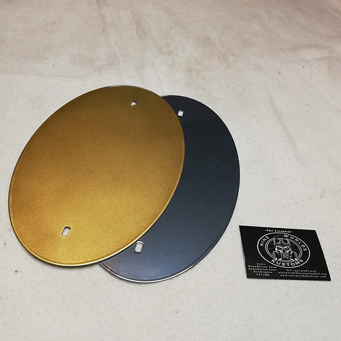 Gold/ Chrome Vintage/ Scrambler/ Custom motorcycle oval number racing plate