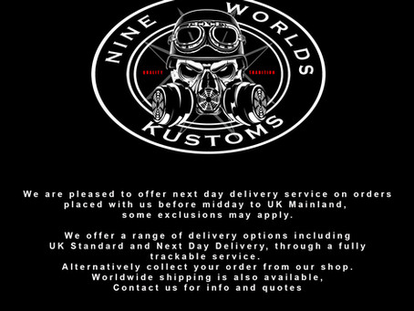 Next Day Delivery and Worldwide postage services