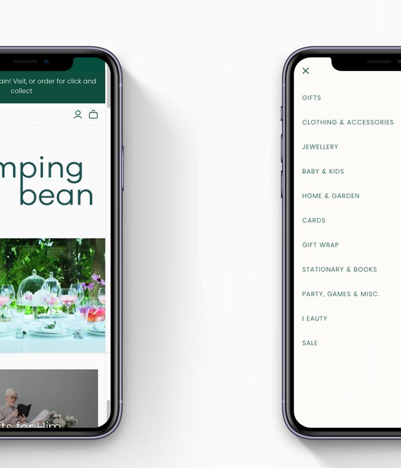 Mobile Homepage and UI