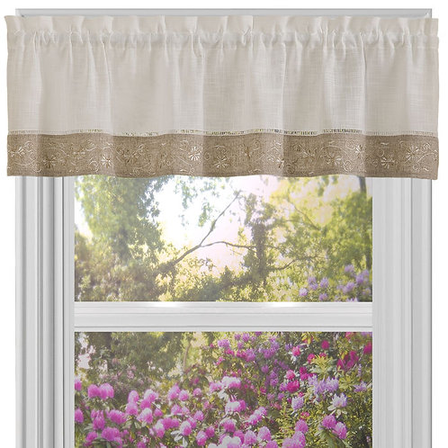 Oakwood 58x14 Window Curtain Valance
