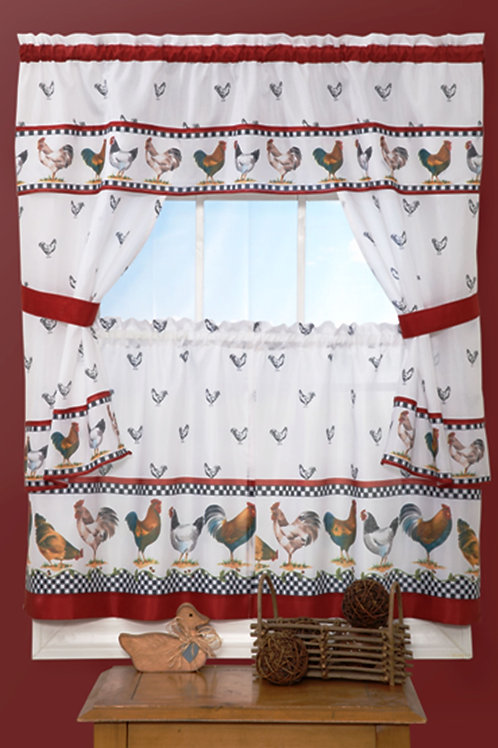 Top of the Morning Cottage Window Curtain Set