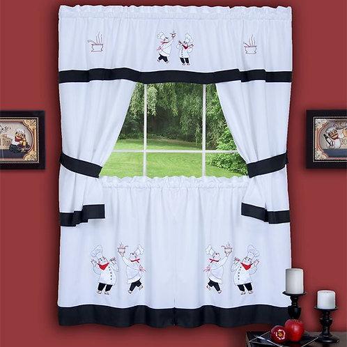Gourmet Embellished Cottage Window Curtain Set