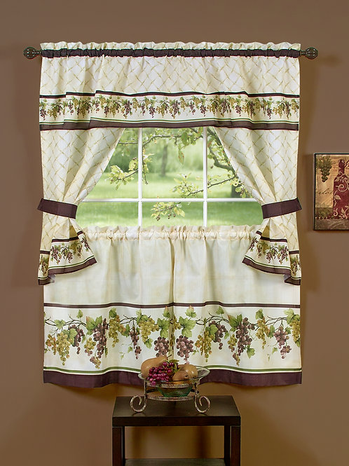 Tuscany Cottage Window Curtain Set