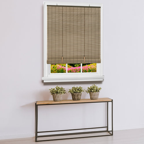 Cordless Veranda Vinyl Roll-Up Blind 30x72 - Cocoa/Almond