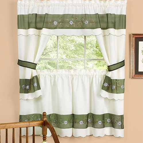 Berkshire Embellished Cottage Window Curtain Set